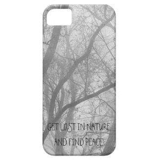 Caso abstracto del iPhone 5 del bosque Funda Para iPhone SE/5/5s