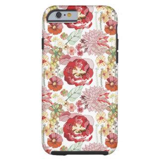caso abstracto del iPhone 6 de los chysanthemums Funda De iPhone 6 Tough