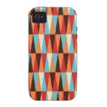 caso abstracto del iphone de la textura del triáng iPhone 4 carcasas