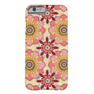 Caso abstracto floral del iPhone 6 cerca Funda De iPhone 6 Barely There