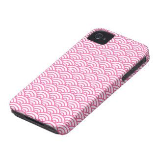 Caso abstracto rosado del iPhone 4 del modelo de o iPhone 4 Case-Mate Protectores