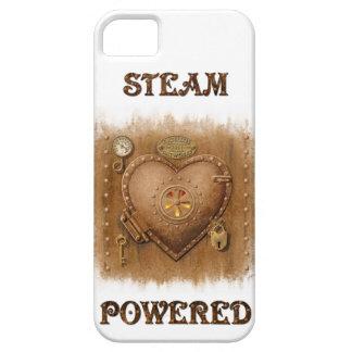 Caso accionado vapor del corazón iPhone4 iPhone 5 Case-Mate Protectores