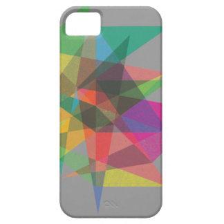 caso acodado modelo geométrico del iphone del funda para iPhone 5 barely there