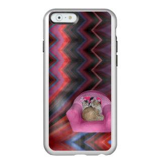 Caso acogedor del iPhone de la zona de comodidad Funda Para iPhone 6 Plus Incipio Feather Shine