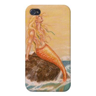 Caso acuático de Iphone 4 de la sirena del mar del iPhone 4/4S Funda