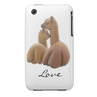 Caso adaptable del iPhone 3 del amor de la alpaca iPhone 3 Cobreturas