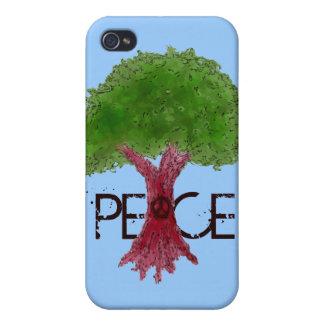 Caso adaptable del iPhone 4 del árbol de la paz iPhone 4 Cárcasa