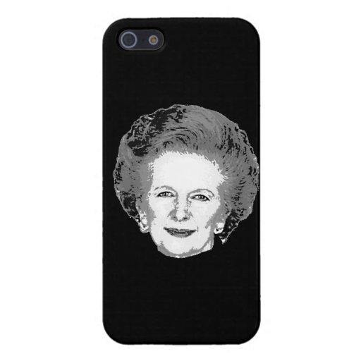 Caso adaptable del iPhone 5 de Margaret Thatcher iPhone 5 Carcasas