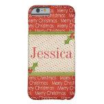 Caso adaptable del iPhone 6 de las Felices Navidad Funda De iPhone 6 Barely There