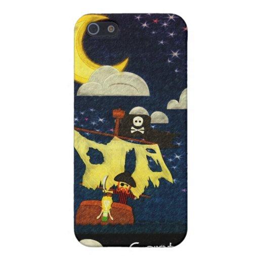 Caso adaptable del iPhone de la escena del pirata iPhone 5 Carcasas