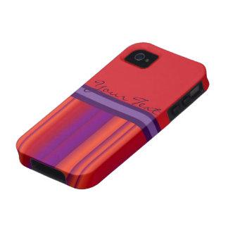 Caso adaptable del iphone de las rayas púrpuras ar iPhone 4/4S funda