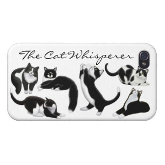 Caso adaptable del iPhone del Whisperer del gato iPhone 4 Carcasa