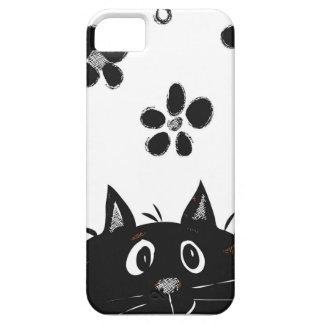 Caso adorable de Iphone del gato del Peekaboo Funda Para iPhone SE/5/5s