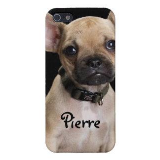 Caso adorable del iPhone del dogo francés iPhone 5 Carcasas