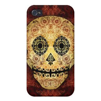 Caso adornado del iPhone 4 del cráneo del azúcar d iPhone 4 Cobertura
