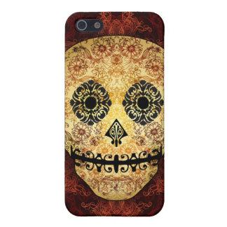 Caso adornado del iPhone 5 del cráneo del azúcar d iPhone 5 Funda