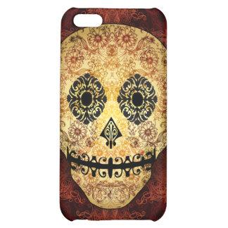 Caso adornado del iPhone 5 del cráneo del azúcar d