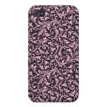 Caso afiligranado rosado iPhone4 iPhone 4 Funda