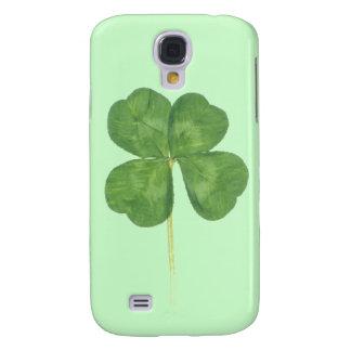 Caso afortunado 3G del iPhone 3 del trébol del tré Funda Para Galaxy S4