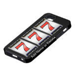 CASO afortunado del CASINO del TELÉFONO 5 de Seven iPhone 5 Case-Mate Fundas
