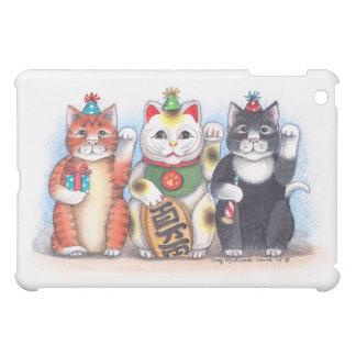 Caso afortunado del iPad del gato del brote y de T