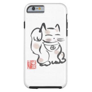 Caso afortunado del iPhone 6 del gato Funda Para iPhone 6 Tough