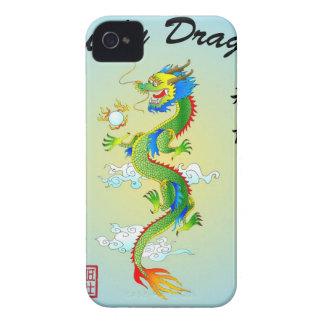 Caso afortunado del iPhone del dragón Case-Mate iPhone 4 Fundas