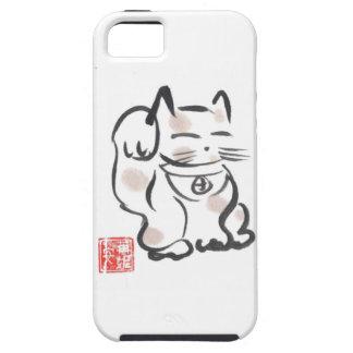 Caso afortunado del iPhone del gato iPhone 5 Case-Mate Cárcasas