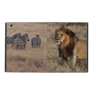 Caso africano del iPad de Powis del león y de la