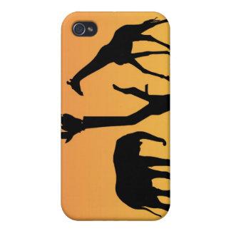 Caso africano del iphone 4 de la silueta de la pue iPhone 4/4S funda