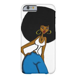 caso afro del iPhone 6 de la hermana Funda Para iPhone 6 Barely There