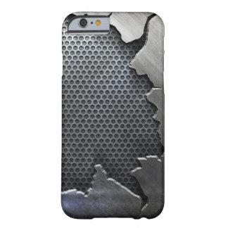 Caso agrietado del iPhone 6 del metal, Funda Para iPhone 6 Barely There