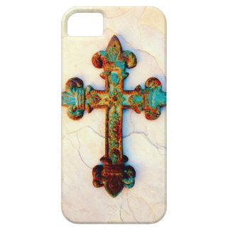 Caso aherrumbrado del iPhone 5 de la cruz del Funda Para iPhone SE/5/5s
