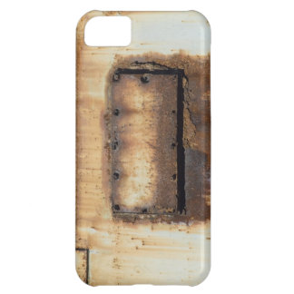 Caso aherrumbrado del iPhone del metal