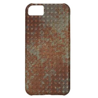 Caso aherrumbrado sucio del iPhone 5 S del metal Funda Para iPhone 5C