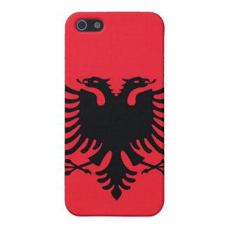 Caso albanés del iPhone de la bandera iPhone 5 Carcasas
