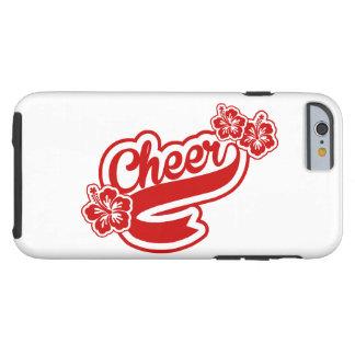 Caso alegre iphone6 con las flores en rojo funda para iPhone 6 tough