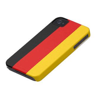 Caso alemán del iphone 4 de la bandera iPhone 4 Case-Mate carcasas