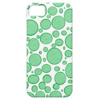 Caso aligerado burbujas verdes del iPhone iPhone 5 Carcasa