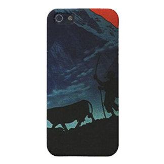 Caso alpino de Silhoutte Iphone 4 de la noche de l iPhone 5 Fundas