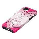 Caso amado estropeado corazones rosados del iphone iPhone 5 Case-Mate fundas