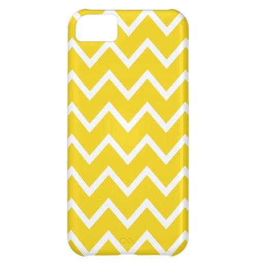 Caso amarillo limón de Chevron Iphone 5