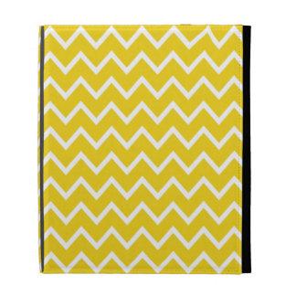 Caso amarillo limón del iPad de Chevron