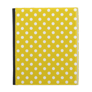 Caso amarillo limón del iPad del lunar