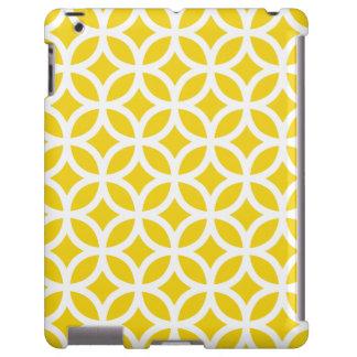Caso amarillo limón geométrico del iPad 2/3/4