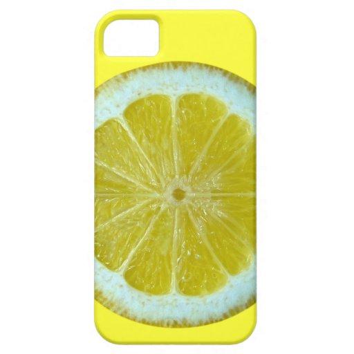 Caso amarillo limón iPhone5 iPhone 5 Fundas