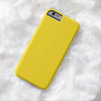 Caso amarillo limón llano del iPhone 6 Funda De iPhone 6 Barely There