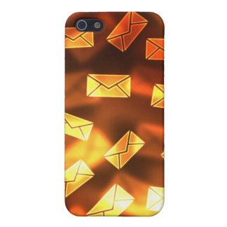 Caso amarillo-naranja del iPhone del correo electr iPhone 5 Fundas