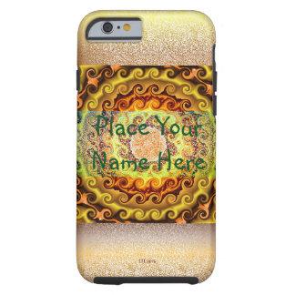 Caso amarillo-naranja y de Brown del caleidoscopio Funda Resistente iPhone 6