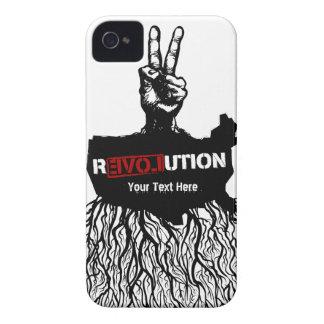 Caso americano de la propaganda de la revolución d iPhone 4 cárcasa